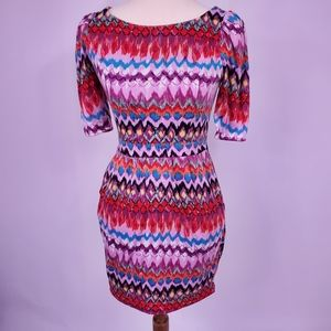 Ark & Co multi color dress with pockets